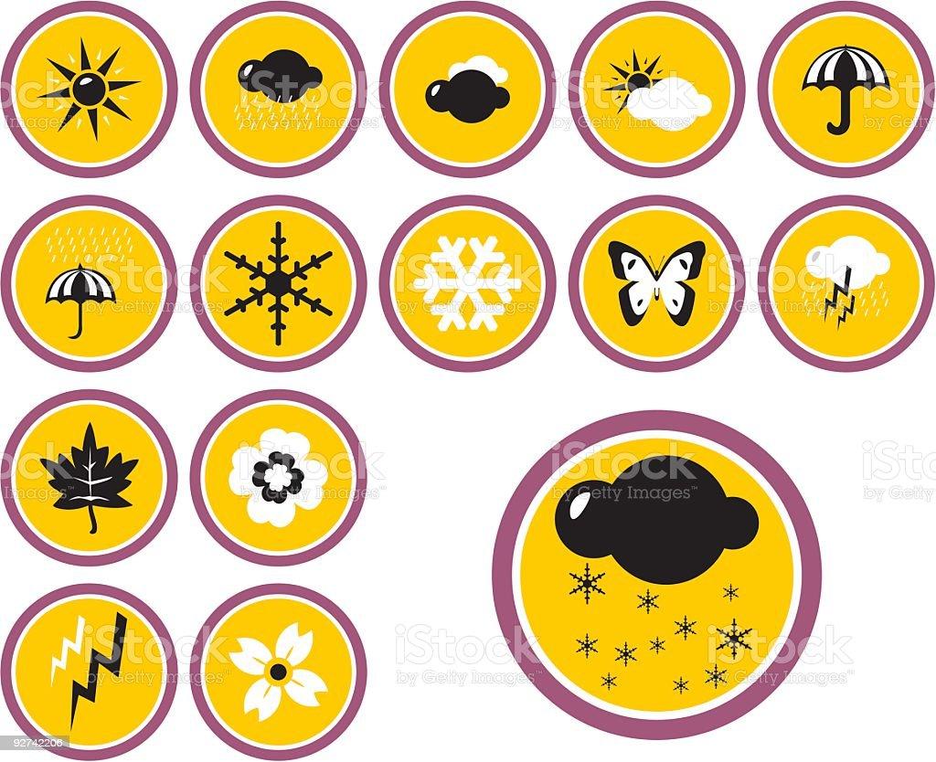 Wetter Icon-Set Lizenzfreies wetter iconset stock vektor art und mehr bilder von anzünden