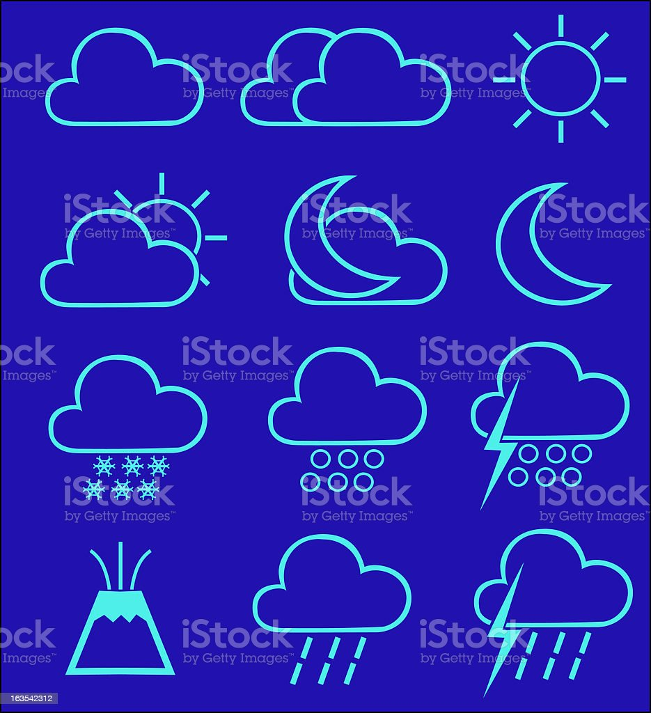 Weather Icons 1 (vector) royalty-free stock vector art