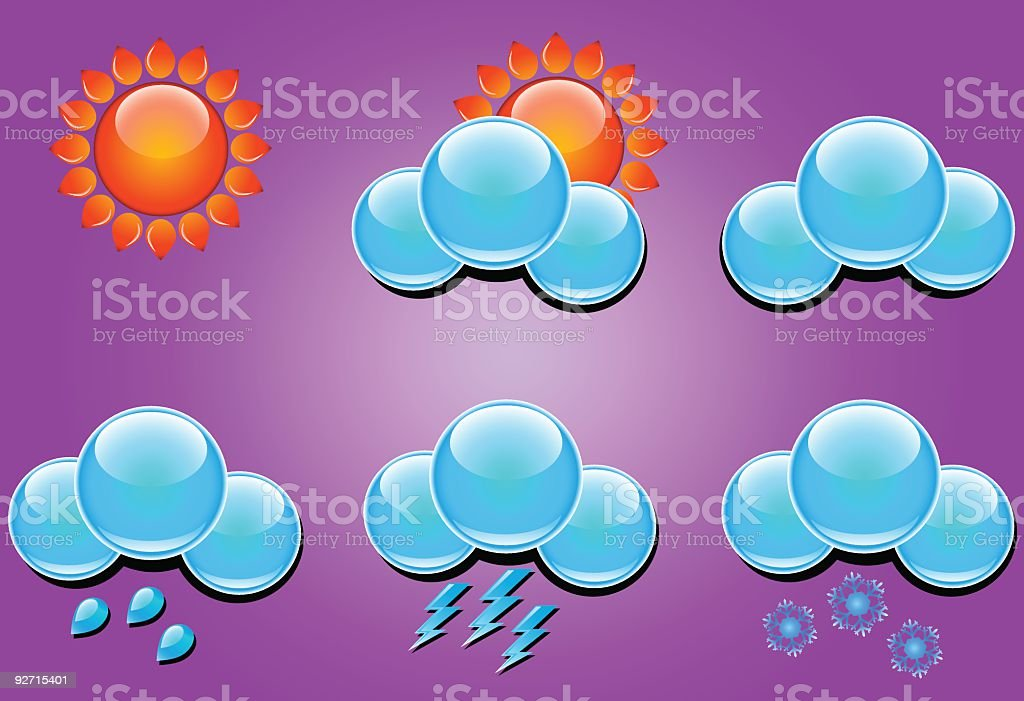Weather icons - vector royalty-free stock vector art