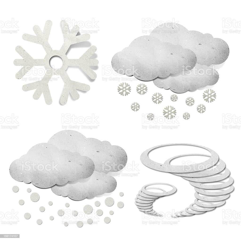Weather  recycled paper royalty-free stock vector art