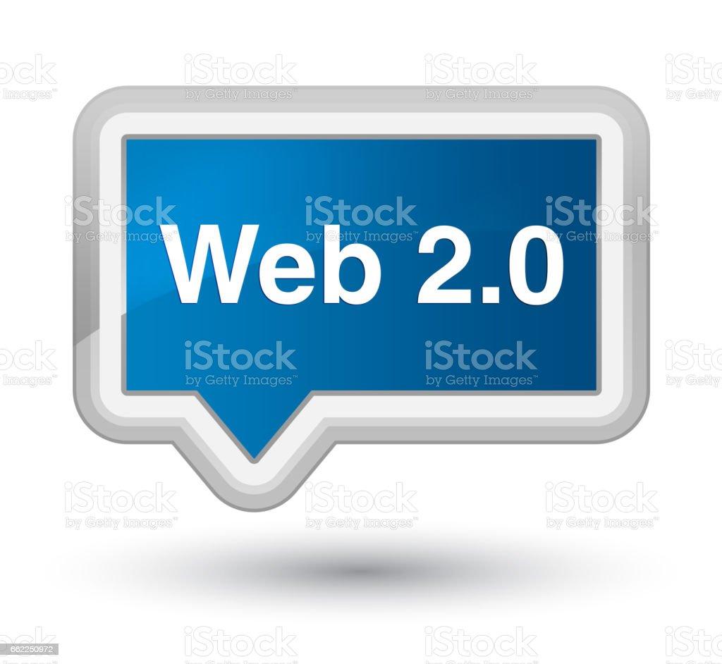 Web 2.0 prime blue banner button vector art illustration