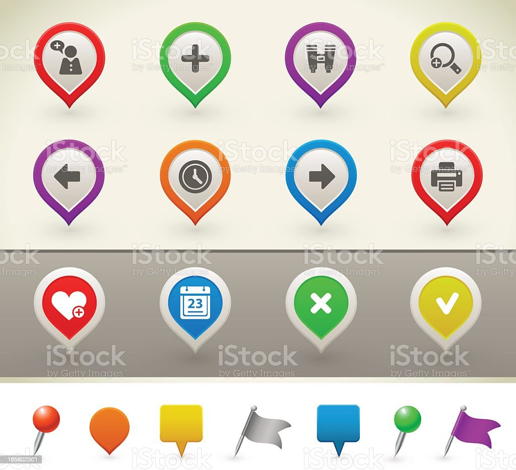 Web and internet icons royalty-free stock vector art