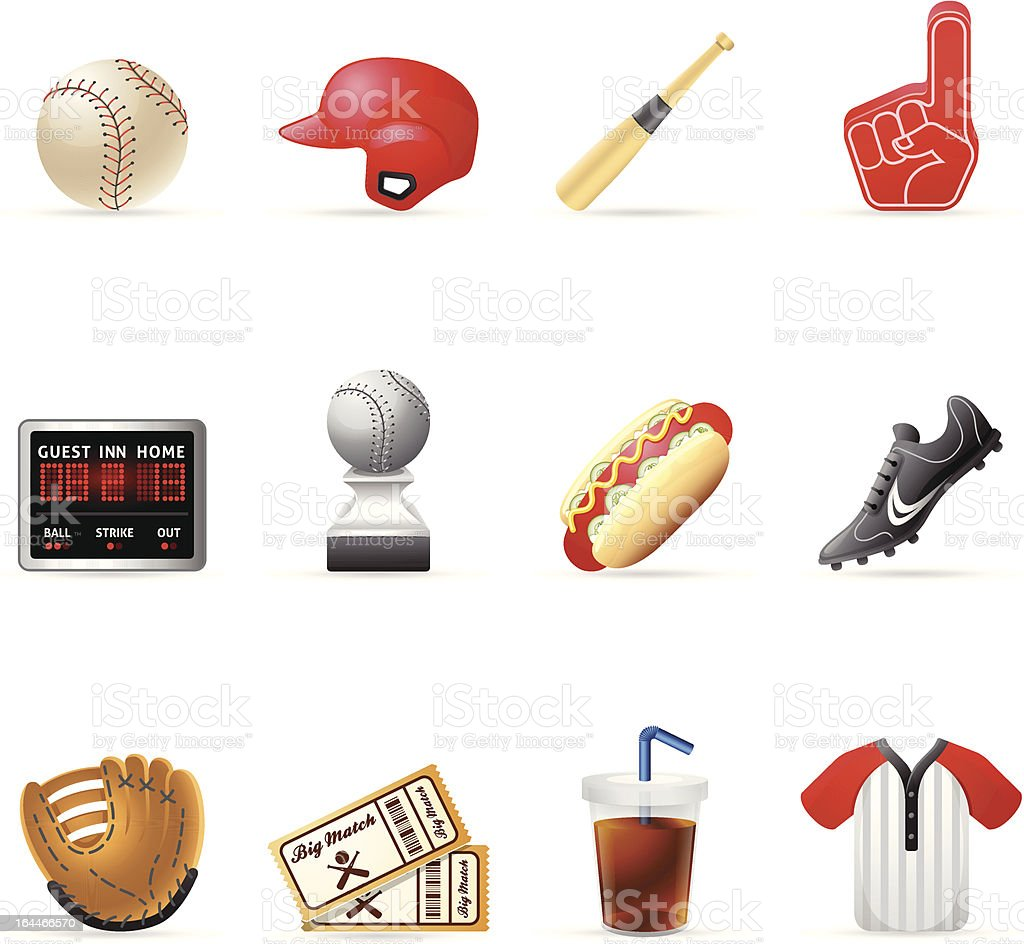 Web Icons - Baseball vector art illustration