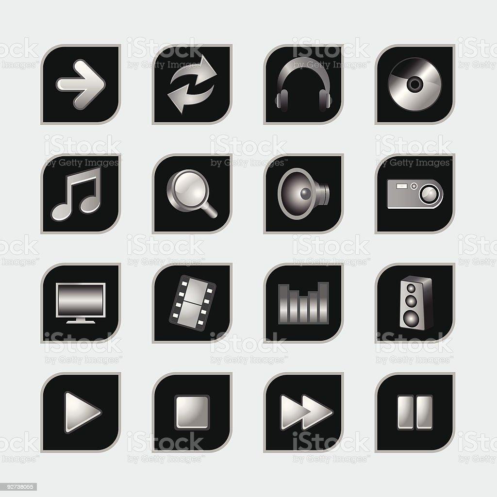 Web-icons Lizenzfreies webicons stock vektor art und mehr bilder von audiozubehör