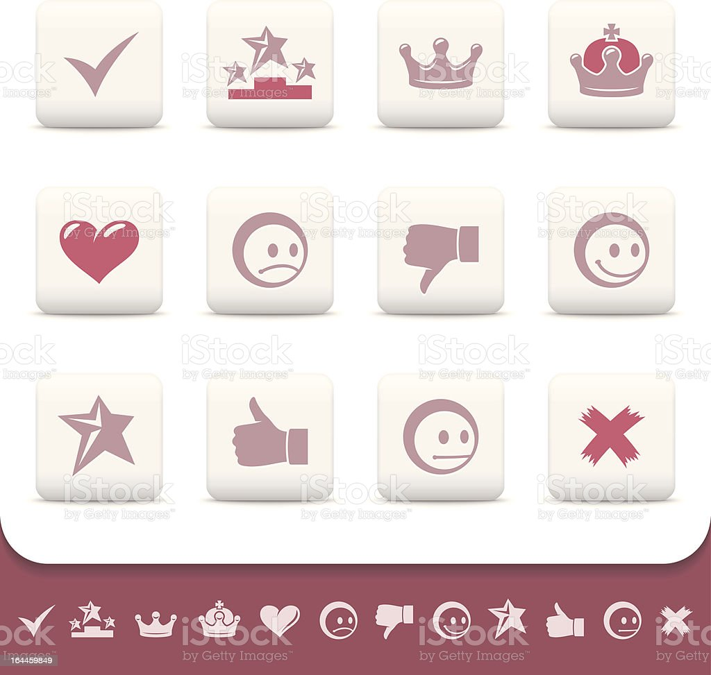 Web icons, white buttons. Part three. Rating and status symbols royalty-free web icons white buttons part three rating and status symbols stock vector art & more images of adulation