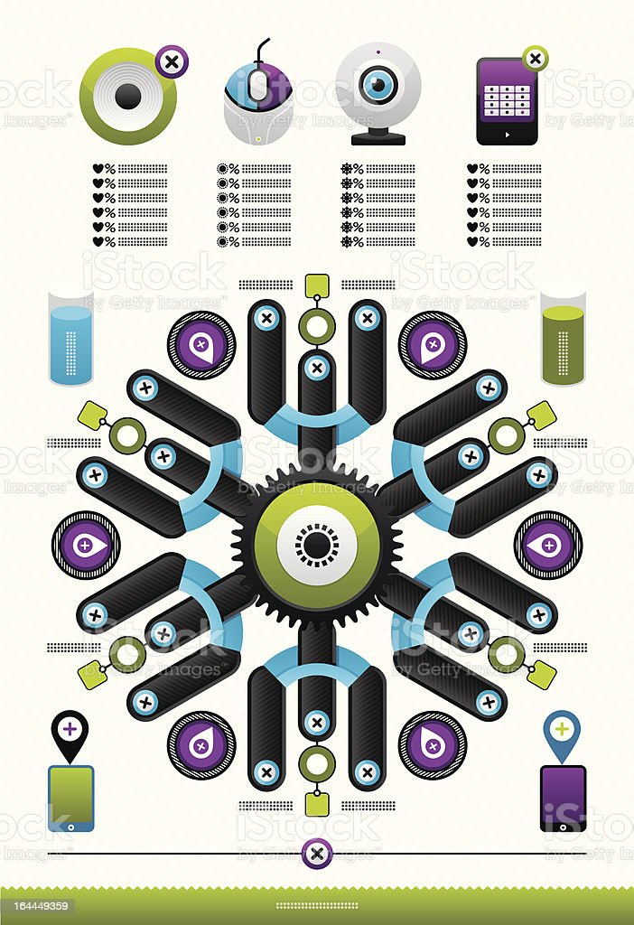 web infographics royalty-free stock vector art