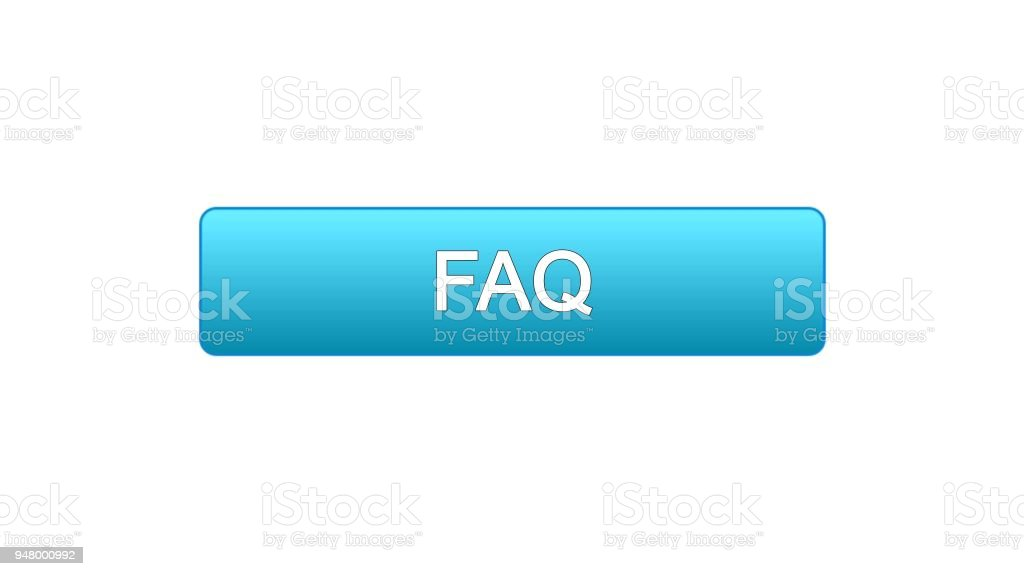 Ilustración de Faq Web Interfaz Botón Azul Color Atención Al Cliente ...