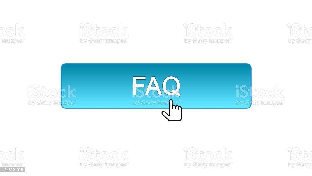 Ilustración de Faq Web Botón De La Interfaz Haga Clic Con El Cursor ...