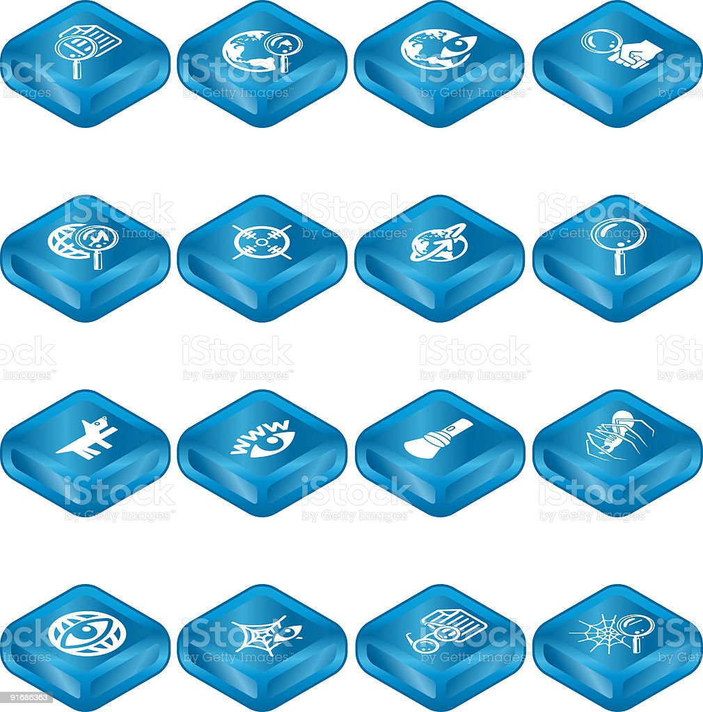 Web Search Icon Series Set royalty-free stock vector art