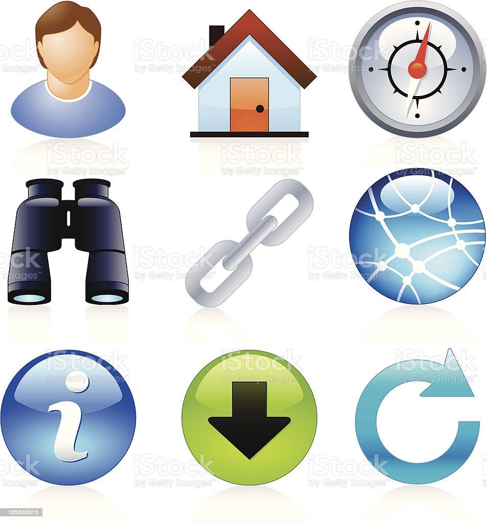Website & Internet Icons - Juicy Series royalty-free stock vector art