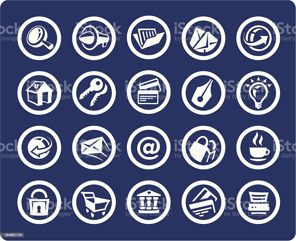 """Website and Internet 20 icons (set #02) """"Please, rate this set, if you like it."""" Business stock vector"""