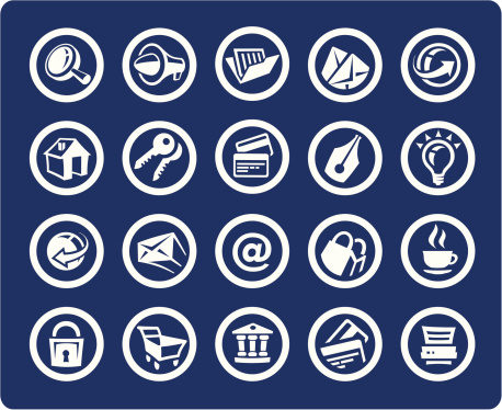 Website And Internet 20 Icons Stock Illustration - Download Image Now