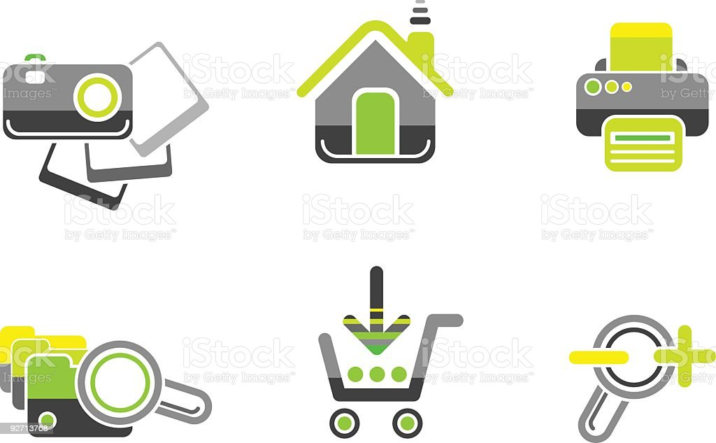 Website and internet icon set royalty-free stock vector art