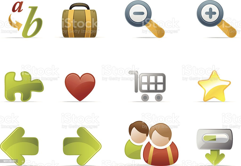 Website and Internet icons - Novica set 3 royalty-free stock vector art