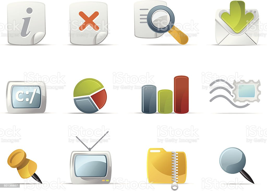 Website and Internet icons - Novica set 5 royalty-free stock vector art