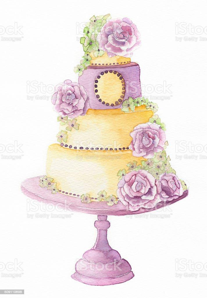 Wedding Cake Illustration Background Stock Vector Art & More Images ...