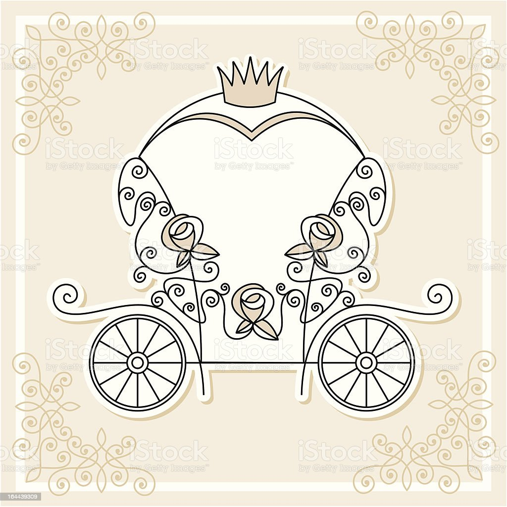 wedding carriage royalty-free wedding carriage stock vector art & more images of backgrounds