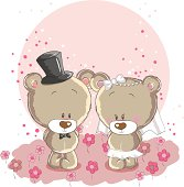 Wedding couple cute bears - everything grouped for easy use