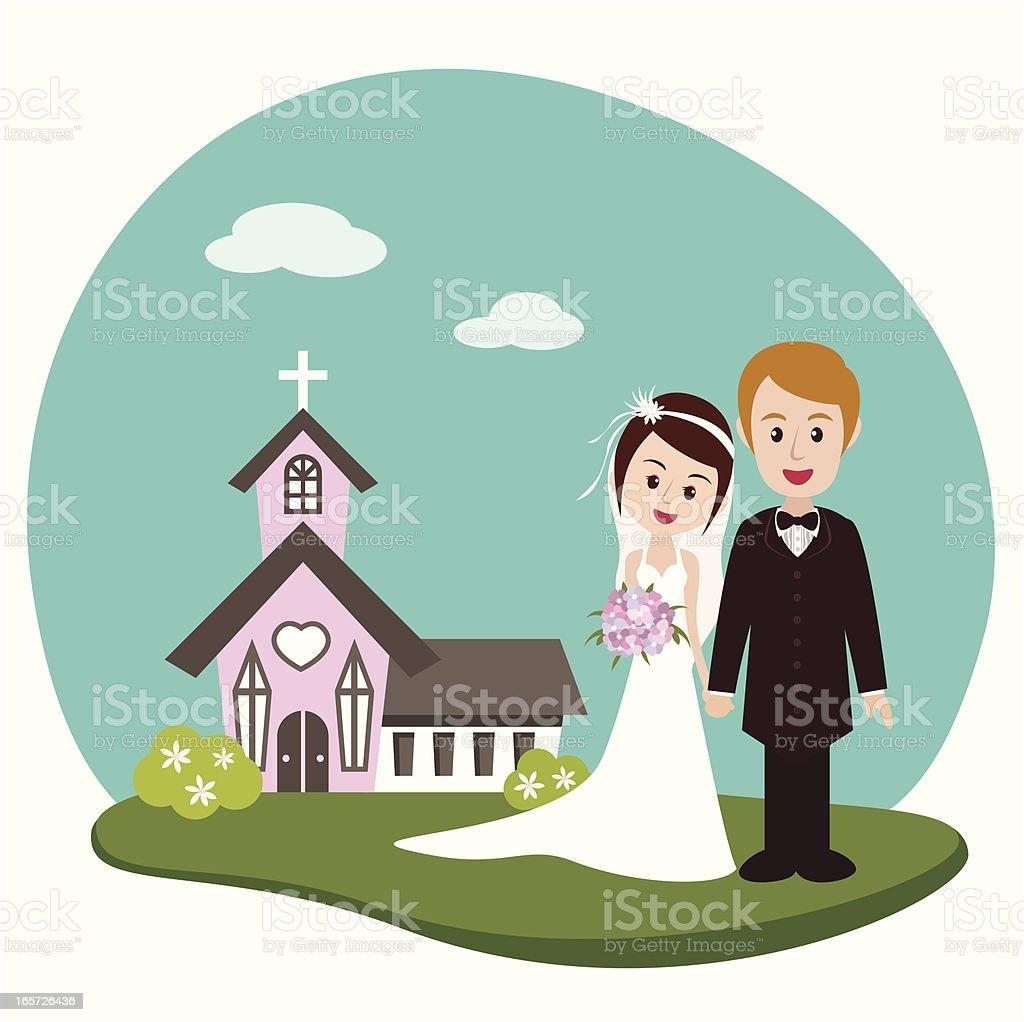 Hochzeit Mit Kirche Stock Vektor Art Und Mehr Bilder Von