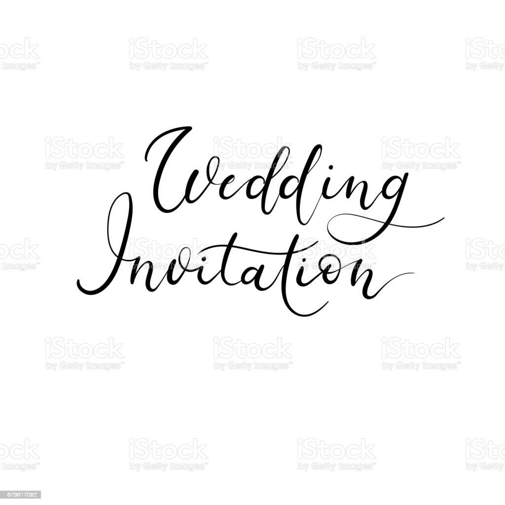 Wedding invitation modern calligraphy card vector hand lettering wedding invitation modern calligraphy card vector hand lettering text wedding invitation modern calligraphy card stopboris Images