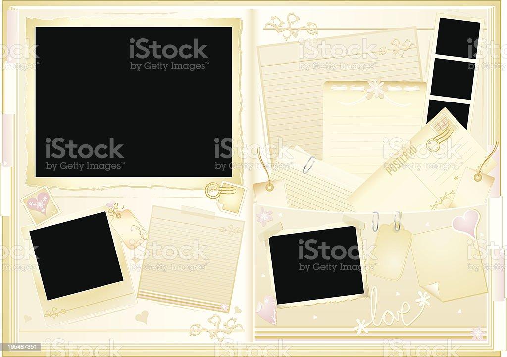 Wedding Memory Book vector art illustration