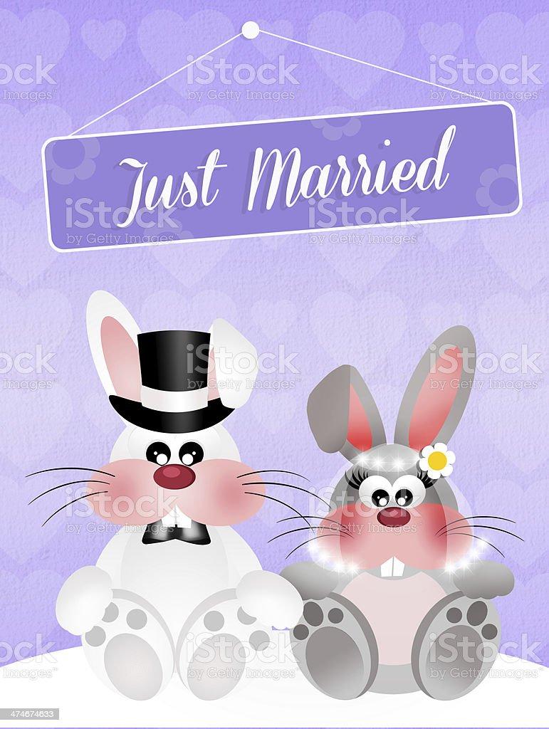 ウサギのウェディング のイラスト素材 474674633 | istock
