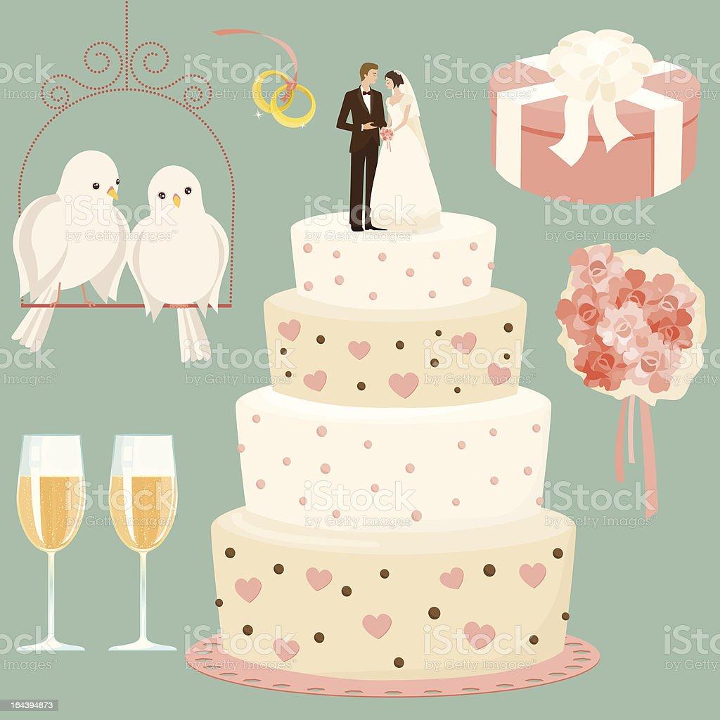 Conjunto de casamento#2 - ilustração de arte em vetor