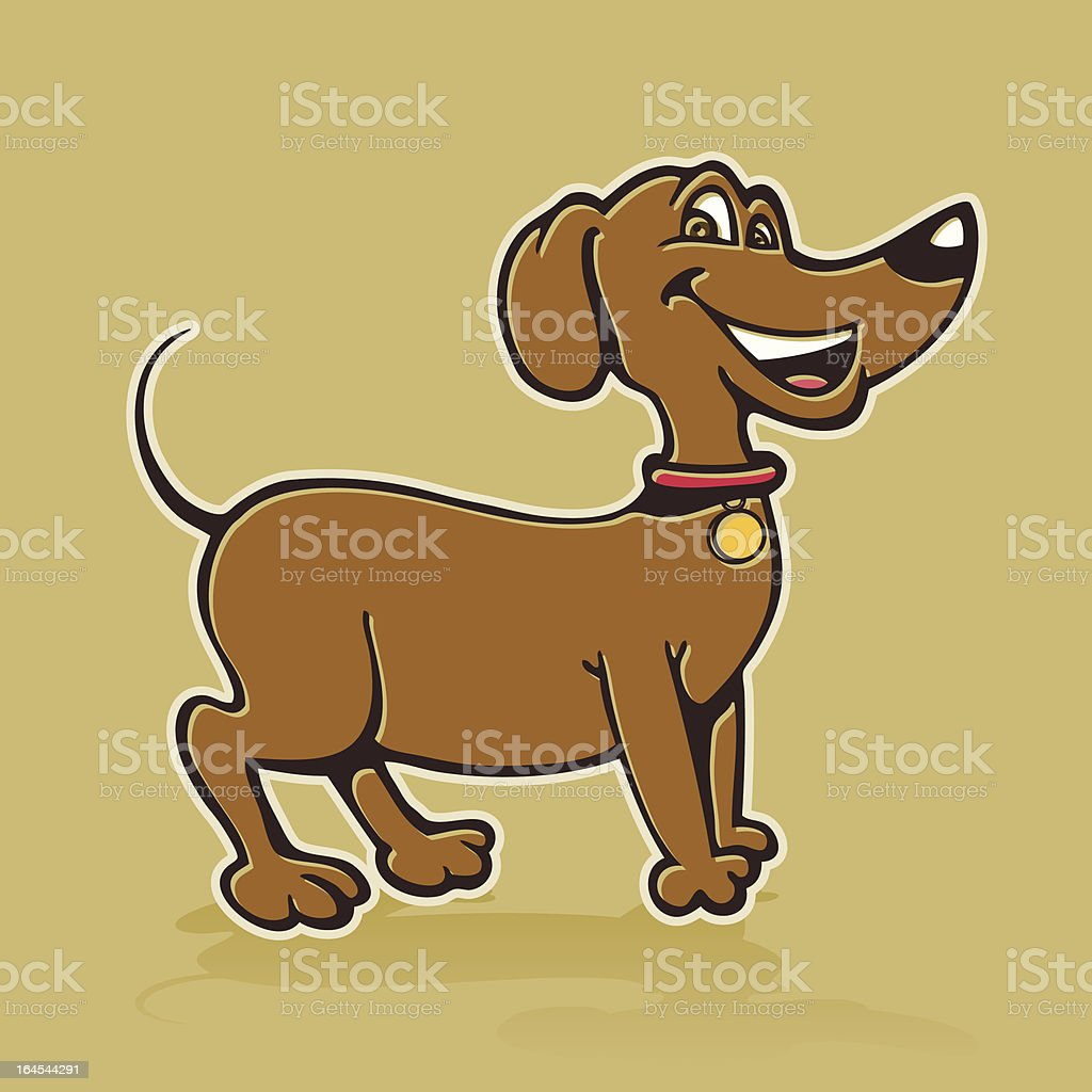 Weenie Dog vector art illustration
