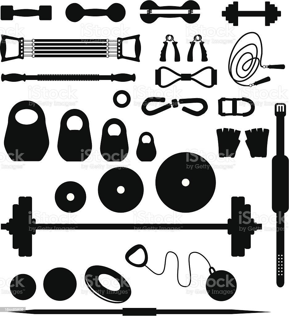 Weightlifting equipment vector art illustration