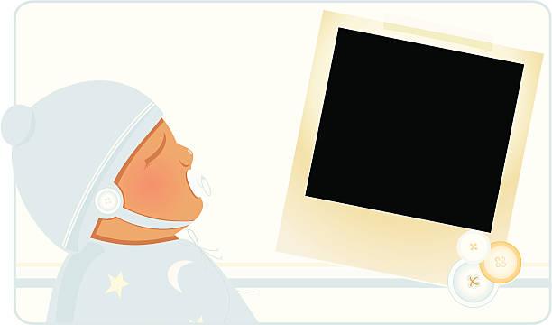 stockillustraties, clipart, cartoons en iconen met welcome baby boy! - alleen één jongensbaby