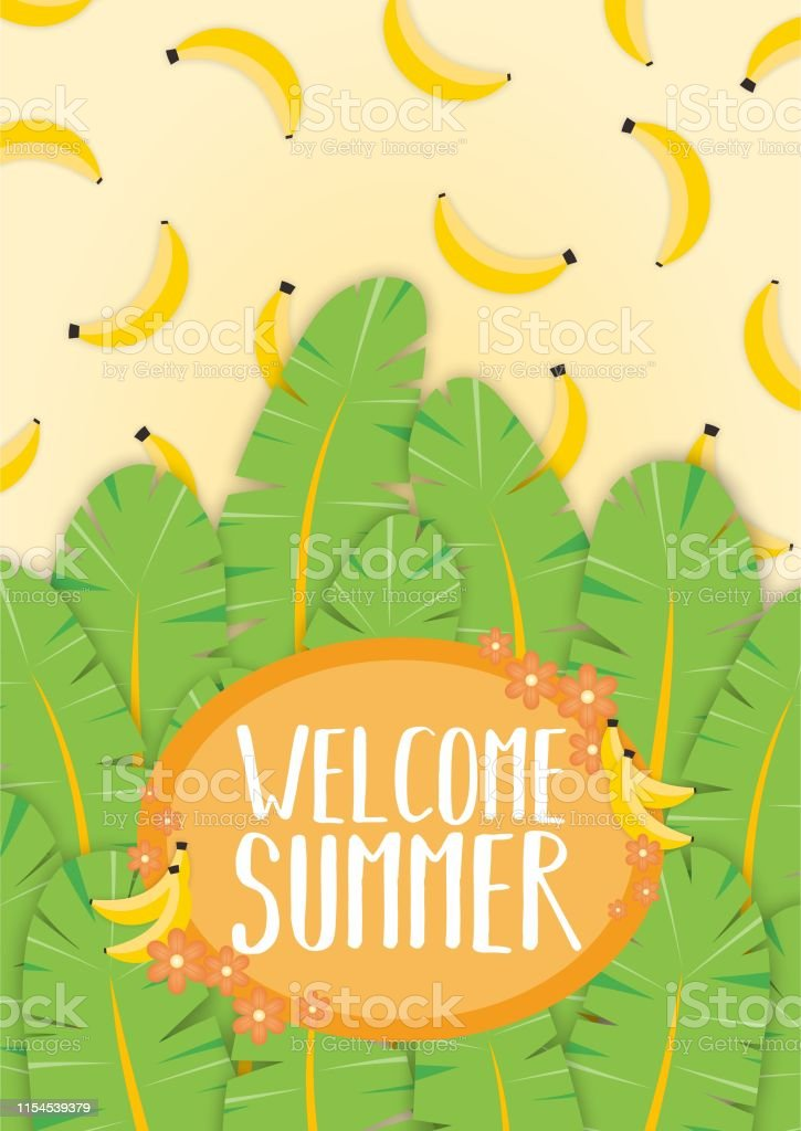 Welcome Summer Cute Background Wallpaper Stock Vector Art