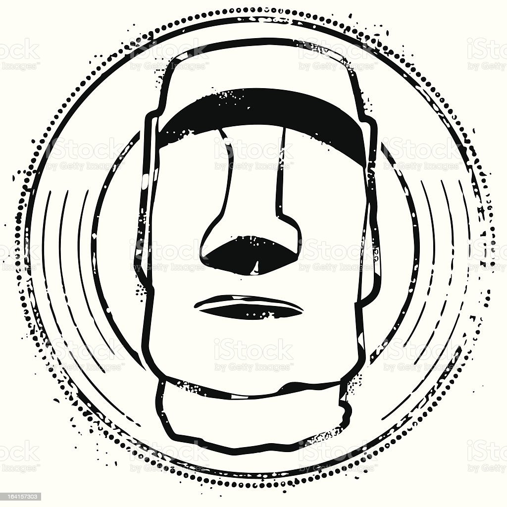 Welcome to Easter Island vector art illustration