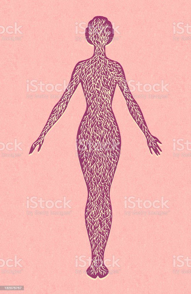 Well Rooted Woman royalty-free stock vector art