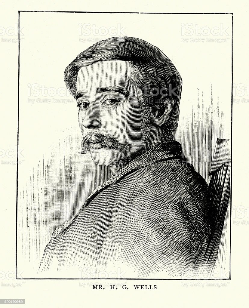 H. G. Wells vector art illustration