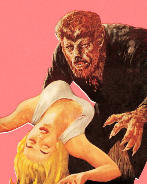 Werewolf and Woman http://csaimages.com/images/istockprofile/csa_vector_dsp.jpg werewolf stock illustrations