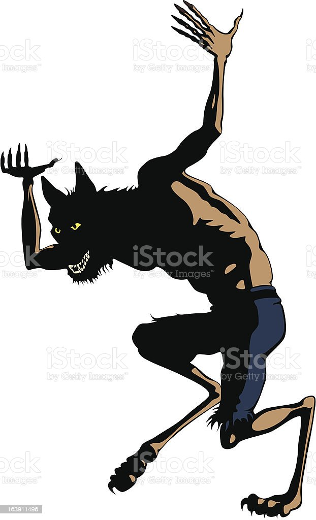 Werewolf Dances. Clip art Cartoon : Istockphoto