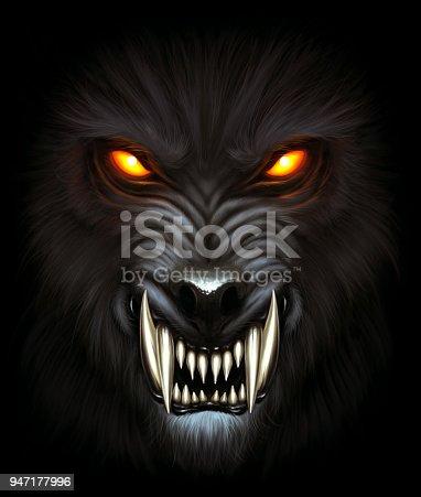 istock Werewolf portrait 947177996