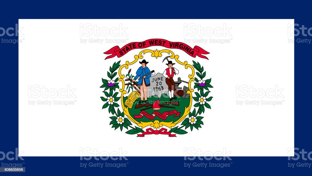 West Virginia State Flag Stock Vector Art More Images Of Agreement