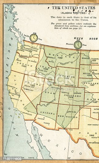 """Map from """"A History of the United States for America  for Schools"""" 1895"""