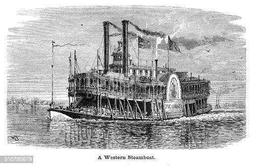 Western Steamboat engraving illustration