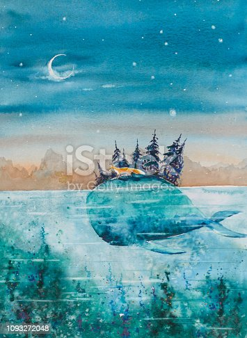 istock Whale and fox 1093272048