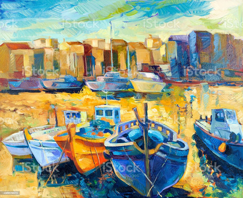Wharf vector art illustration