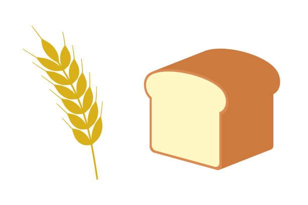 小麦のパン - 食パン点のイラスト素材/クリップアート素材/マンガ素材/アイコン素材