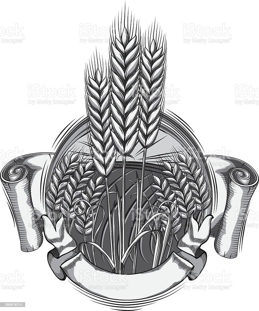 Wheat emblem royalty-free stock vector art