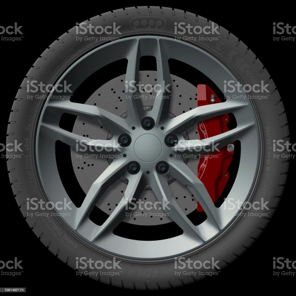 wheel design illustration vector art illustration
