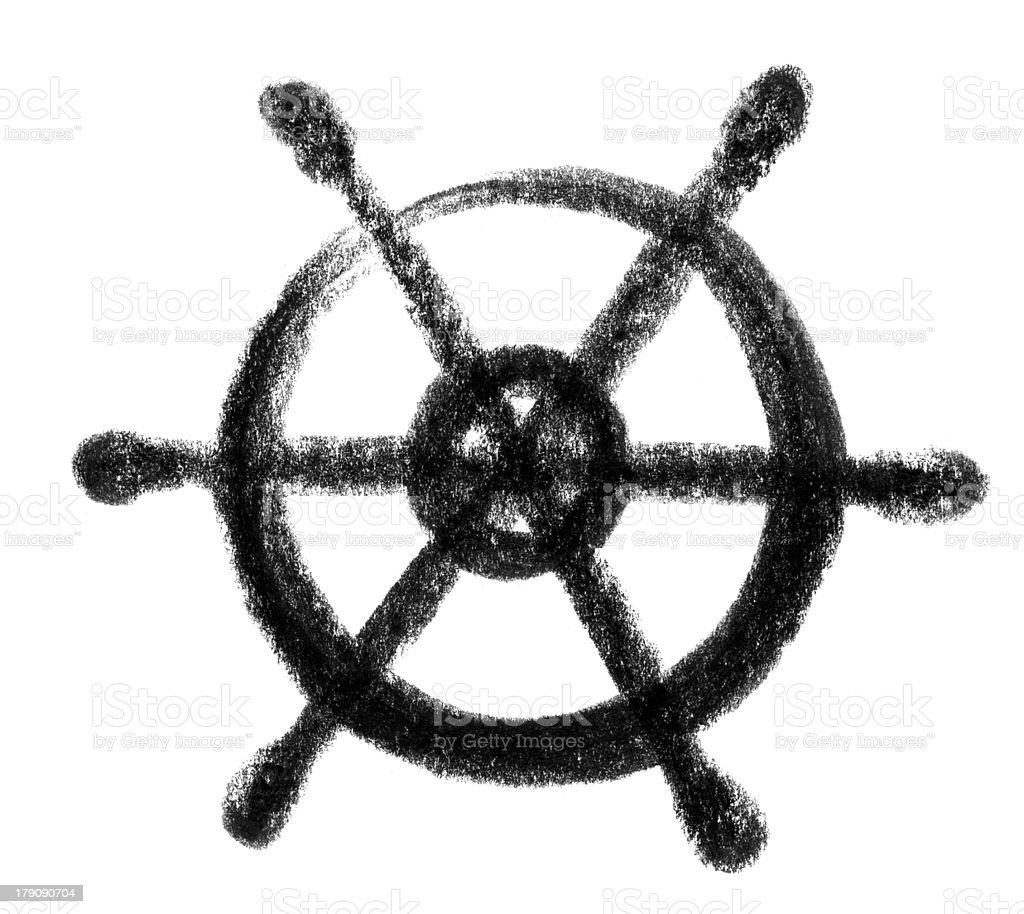 wheel icon vector art illustration