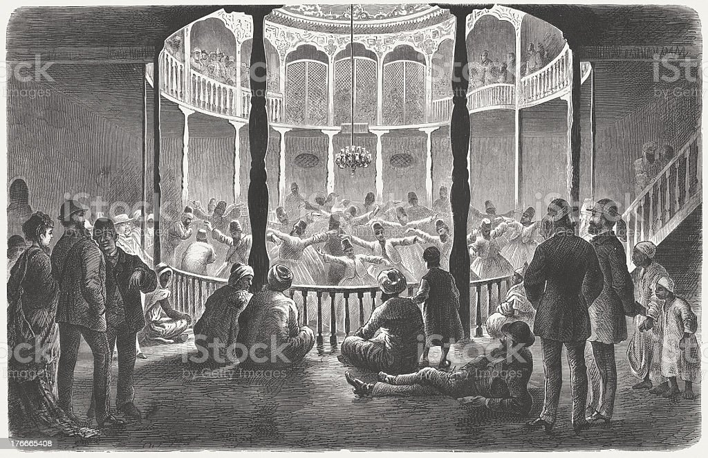 Whirling Dervishes in Cairo, by Theodor Meyer, published in 1871 royalty-free whirling dervishes in cairo by theodor meyer published in 1871 stock vector art & more images of cairo