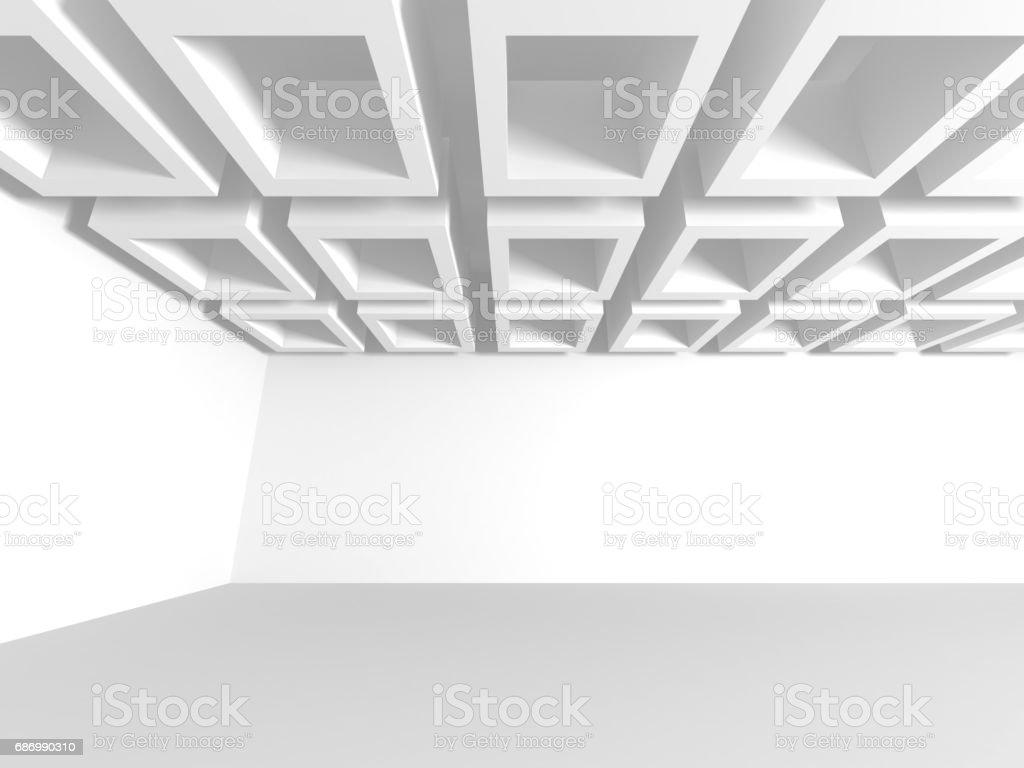 Weiße Architektur und Bau moderne Interieur im Hintergrund Lizenzfreies weiße architektur und bau moderne interieur im hintergrund stock vektor art und mehr bilder von abstrakt