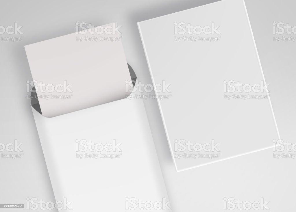 Weißen Großen Umschlag Für Briefkopf A4 Unverschlossenen Umschlag
