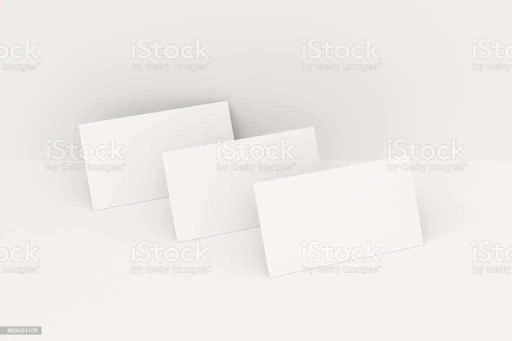 Maquette De Cartes Visite Vierges Blanches Sur Fond Blanc